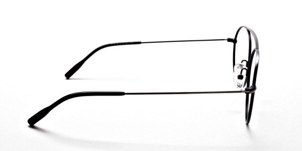 Gunmetal Round Glasses, Eyeglasses -4