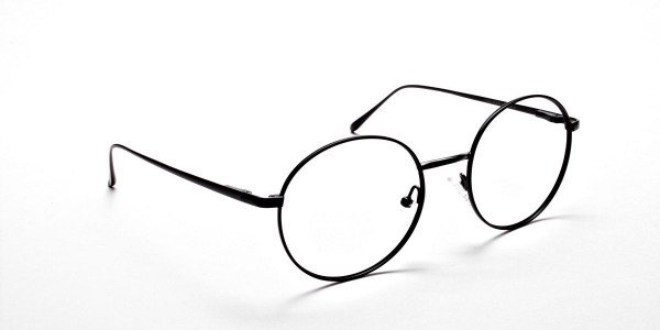 Round Glasses in Black, Eyeglasses -2