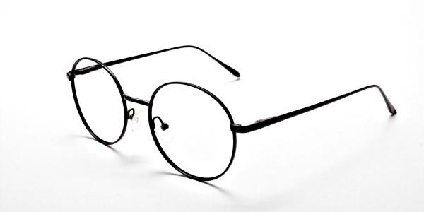Round Glasses in Black, Eyeglasses -3