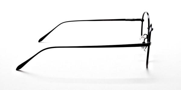 Round Glasses in Black, Eyeglasses -4