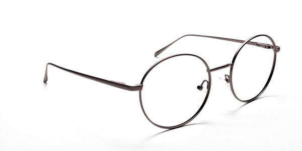 Round Glasses in Gunmetal, Eyeglasses -2