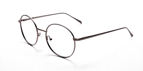 Round Glasses in Gunmetal, Eyeglasses -3
