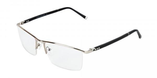 Silver and Black Semi-Rim Glasses-3