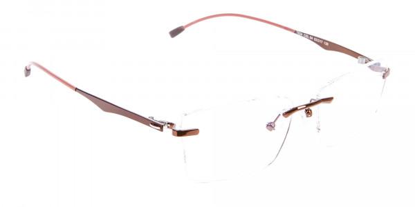 Brown Rimless Frame Free Coatings & Lenses-2