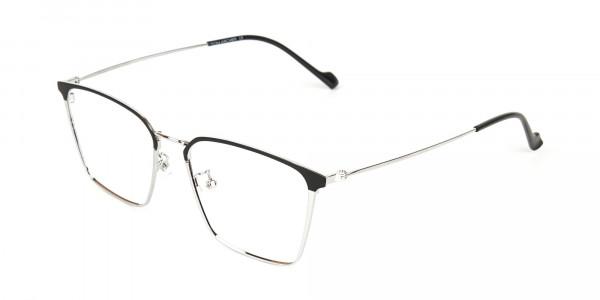 Silver Wayfarer Glasses in Lightweight Metal-3
