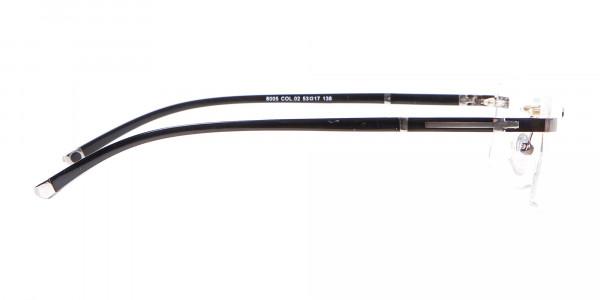 Gunmetal Rimless Glasses For Formal Style-4