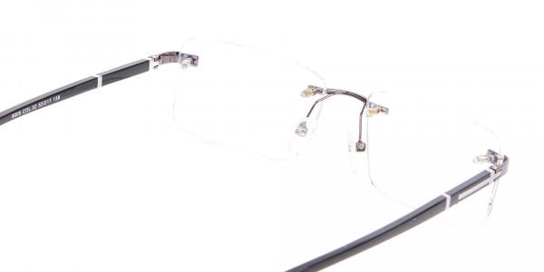 Gunmetal Rimless Glasses For Formal Style-5