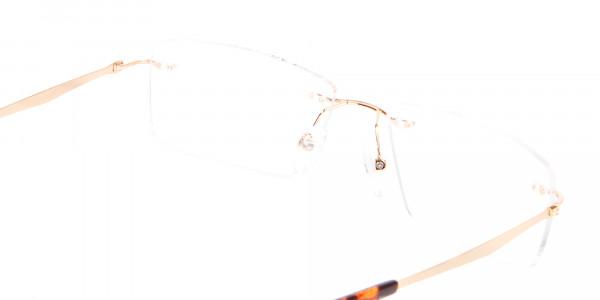 Gold Rimless Glasses Men & Women-5