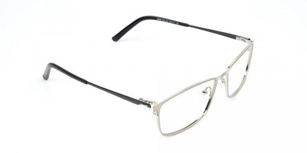 Silver Full-Rimmed Rectangular Glasses-2