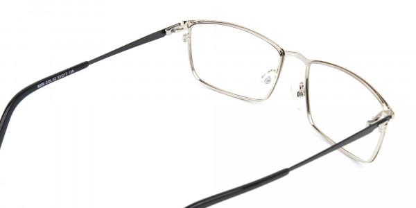 Silver Full-Rimmed Rectangular Glasses-5