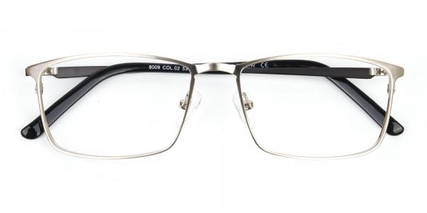 Silver Full-Rimmed Rectangular Glasses-6