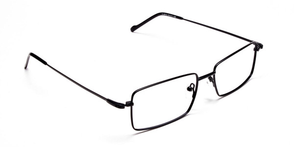 Titanium Glasses in Black, Eyeglasses - 2