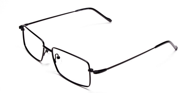 Titanium Glasses in Black, Eyeglasses - 3