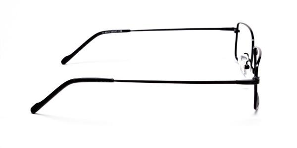 Titanium Glasses in Black, Eyeglasses - 4