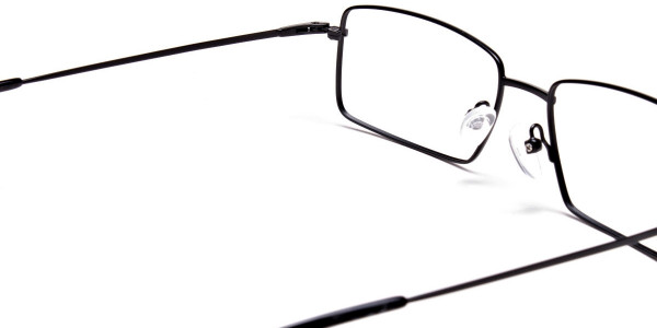 Titanium Glasses in Black, Eyeglasses - 5