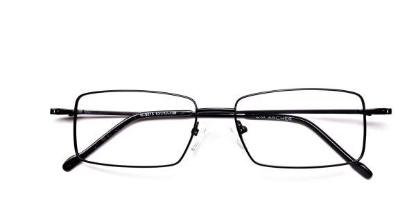 Titanium Glasses in Black, Eyeglasses - 6