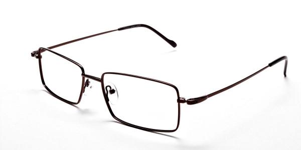 Titanium Glasses in Brown, Eyeglasses - 3