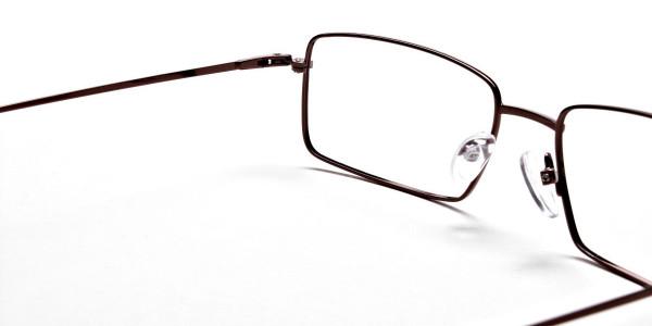 Titanium Glasses in Brown, Eyeglasses - 5