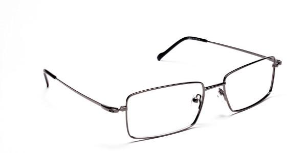 Titanium Glasses in Gunmetal, Eyeglasses - 2