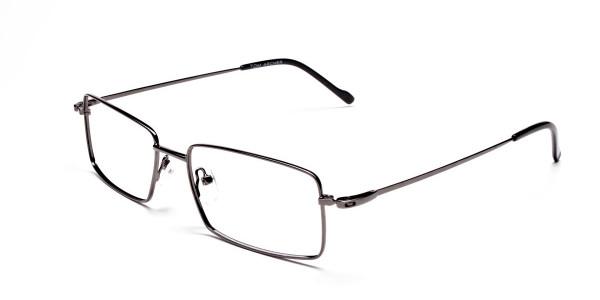 Titanium Glasses in Gunmetal, Eyeglasses - 3