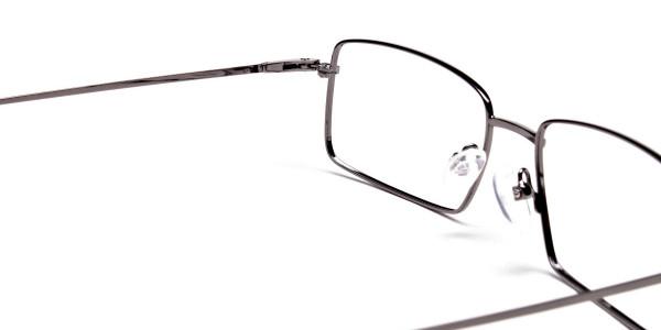 Titanium Glasses in Gunmetal, Eyeglasses - 5