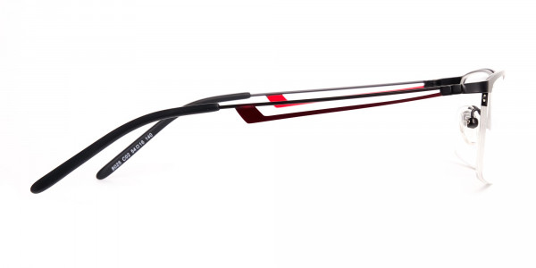 black and red half-rim rectangular glasses frames-4