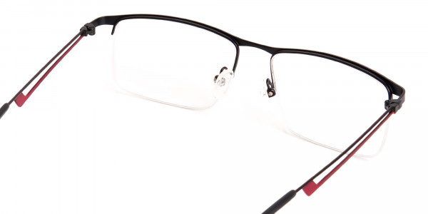 black and red half-rim rectangular glasses frames-5