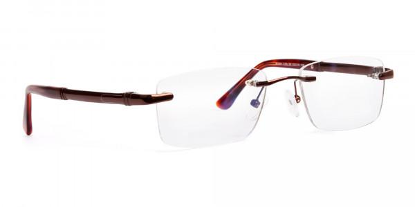 brown-rectangular-rimless-metal-glasses-frames-2