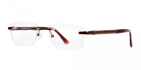 brown-rectangular-rimless-metal-glasses-frames-3
