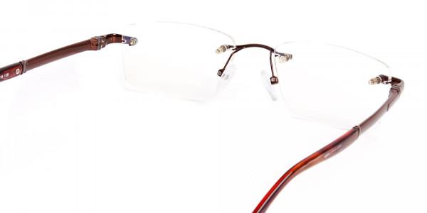 brown-rectangular-rimless-metal-glasses-frames-5