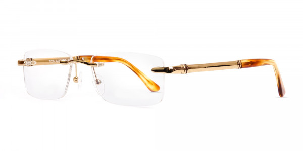 champagne-gold-rectangular-rimless-titanium-glasses-frames-3