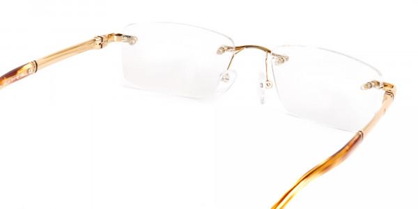champagne-gold-rectangular-rimless-titanium-glasses-frames-5
