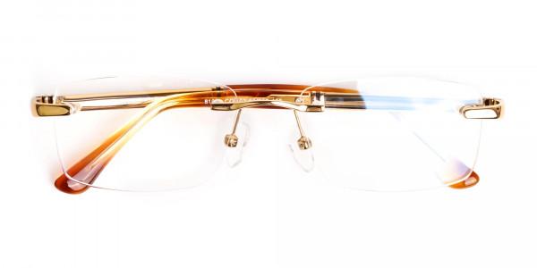 champagne-gold-rectangular-rimless-titanium-glasses-frames-6