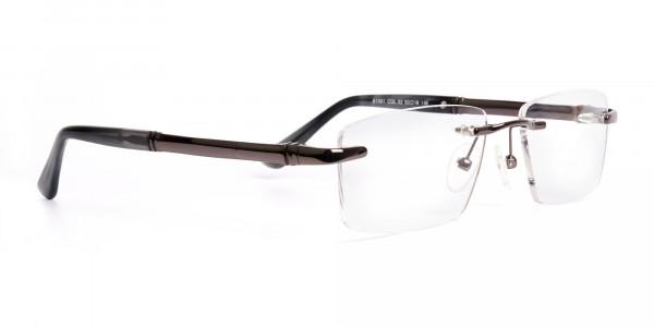gunmetal-rectangular-rimless-glasses-frames-2