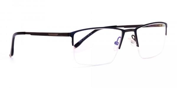 navy blue half-rim rectangular glasses frames-2