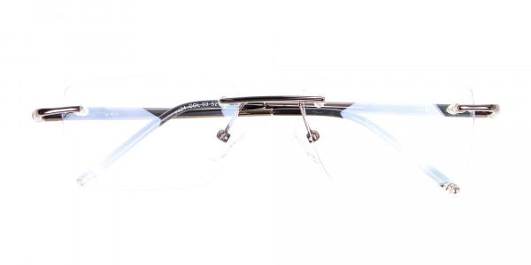 Gunmetal Rimless Lightweight Glasses Online-6