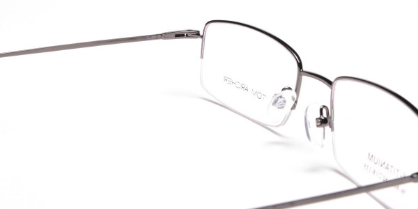 Gunmetal Light Half-Rim Frame - 5