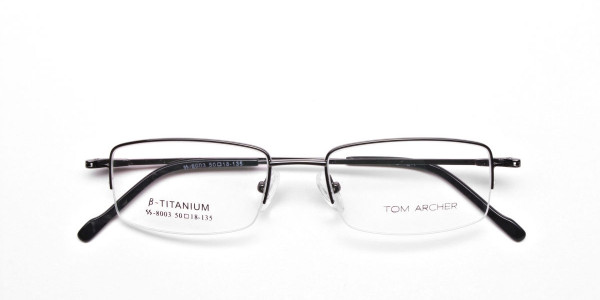 Gunmetal Light Half-Rim Frame - 6