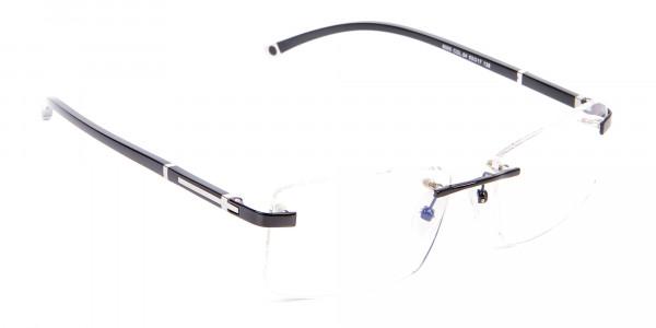Frameless Glasses Black & Silver, Glasses UK-2