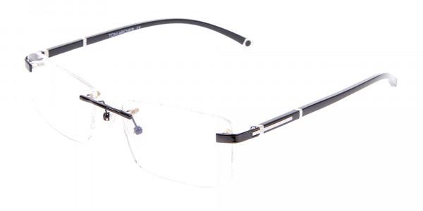 Frameless Glasses Black & Silver, Glasses UK-3