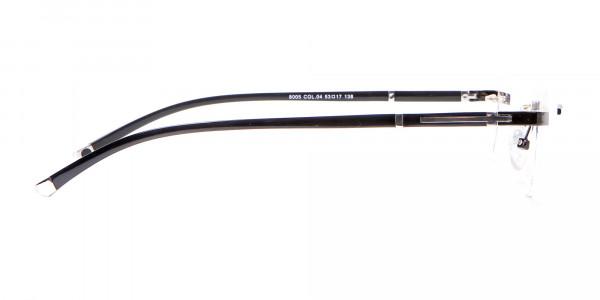 Frameless Glasses Black & Silver, Glasses UK-4