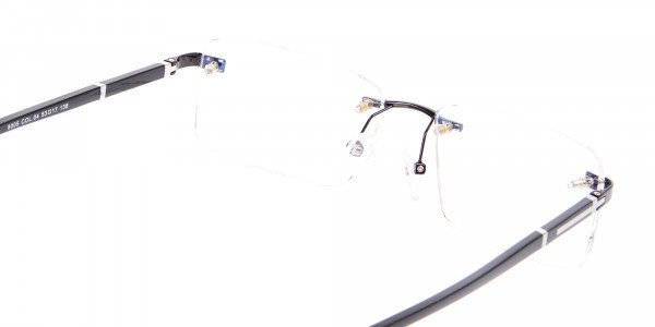 Frameless Glasses Black & Silver, Glasses UK-5