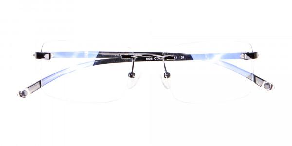 Frameless Glasses Black & Silver, Glasses UK-6
