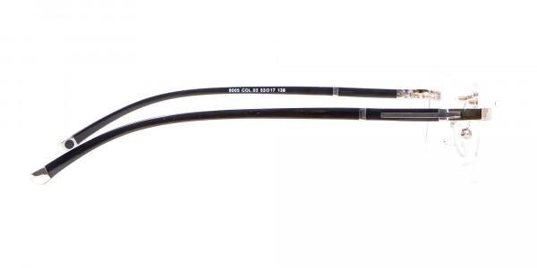 Silver Rectangular Rimless Glasses, Online UK-4