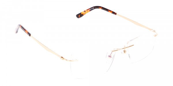 Gold Rimless Glasses Men & Women-2