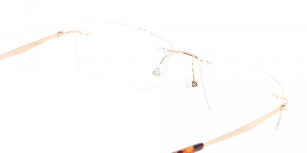 Gold Rimless Glasses Men & Women-5