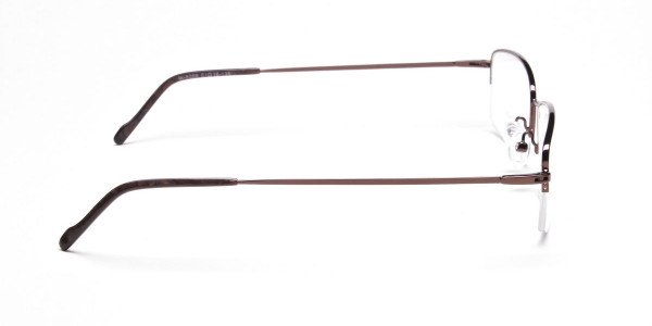 Brown Rectangular Half-Rims - 4
