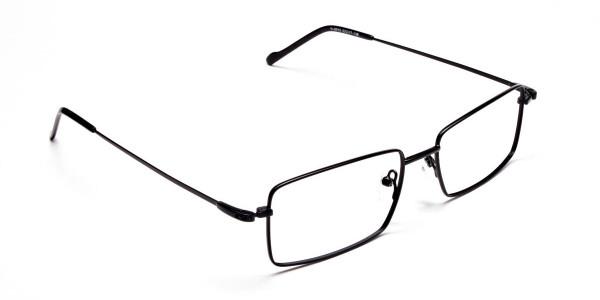 Titanium Glasses in Black, Eyeglasses - 2