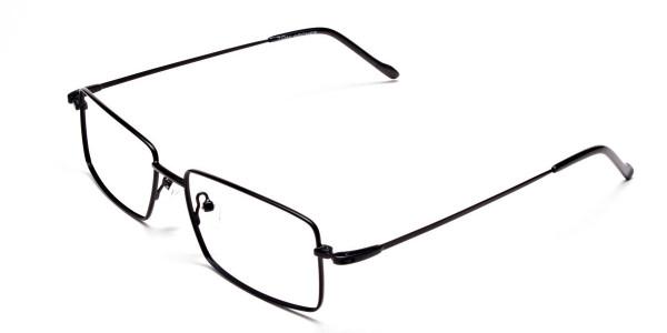 Titanium Glasses in Black, Eyeglasses - 3