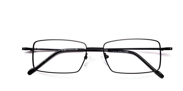 Titanium Glasses in Black, Eyeglasses - 6